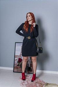 Vestido de moletom preto