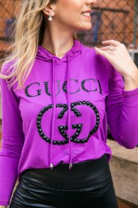 Blusa GG Purple bordada