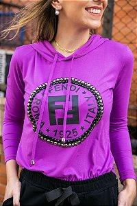 Blusa FF Purple bordada