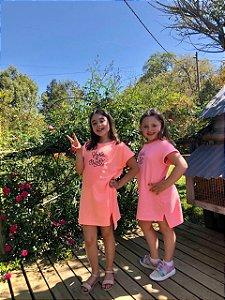 Vestido Shine Bright Neon Pink - Infantil