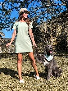 Vestido Básico Camisetão verde