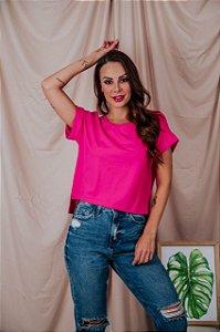 Blusa Cropped moletinho pink
