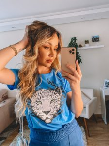 T-shirt Onça azul
