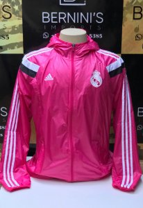 cda78380e2 Jaqueta Adidas Hino Real Madrid Rosa 2014 15
