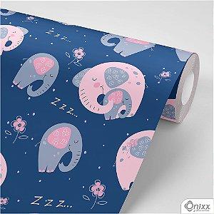 Papel de Parede Adesivo Elefantinhos