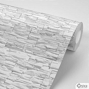 Papel de Parede Adesivo Pedra Canjiquinha Branca