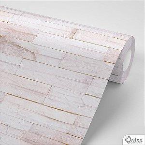 Papel de Parede Adesivo Pedra Canjiquinha Rosê