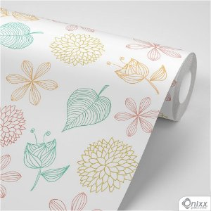 Papel de Parede Adesivo Aquarela Floral