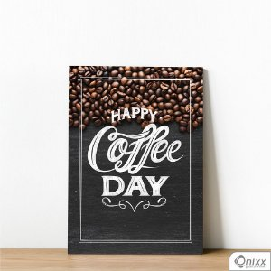Placa Decorativa Happy Coffee Day