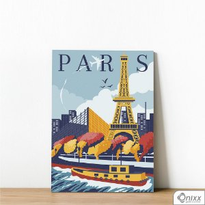 Placa Decorativa Travel To Paris
