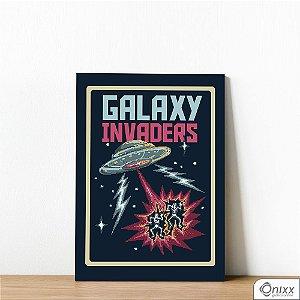 Placa Decorativa Galaxy Invaders