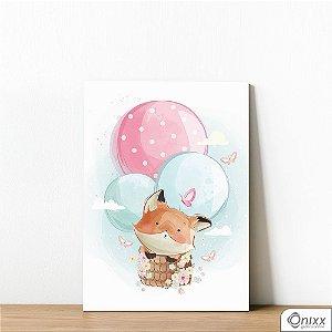 Placa Decorativa Fox Flying Ballon