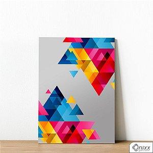 Placa Decorativa Composição De Triângulos Em Cores