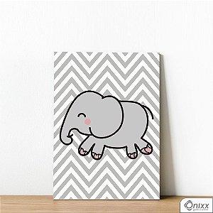 Placa Decorativa Elefante Chevron