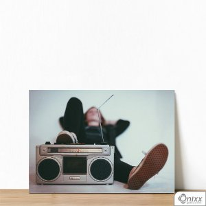 Placa Decorativa Relax And Listen