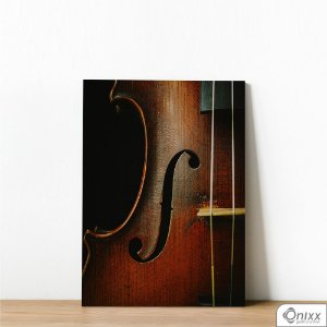 Placa Decorativa Violino Perfil