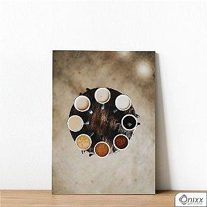 Placa Decorativa Coffee kinds