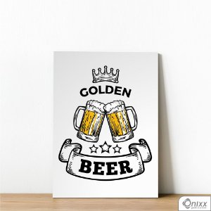 Placa Decorativa Golden Beer