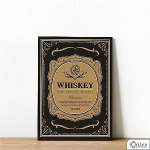 Placa Decorativa Whiskey Label