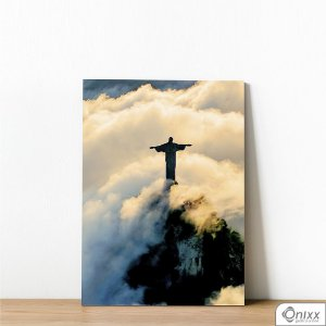 Placa Decorativa Cristo Redentor Entre Nuvens