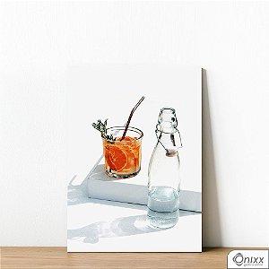 Placa Decorativa Orange Drink