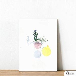 Placa Decorativa Flower Compose Geometric Forms