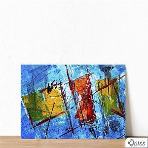 Placa Decorativa Série Blue Expressive Artist