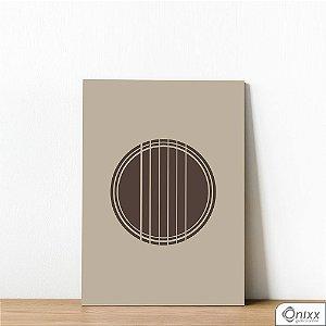 Placa Decorativa Guitar Minimalistic