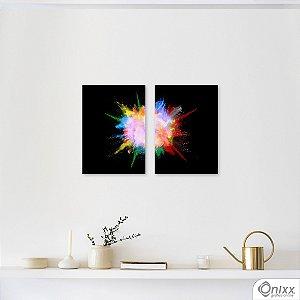 Kit de Placas Decorativas Color Explosion In Black