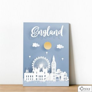 Placa Decorativa Série Papercut England