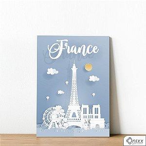 Placa Decorativa Série Papercut France