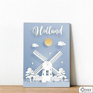 Placa Decorativa Série Papercut Holland