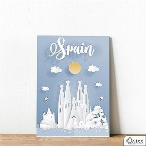 Placa Decorativa Série Papercut Spain