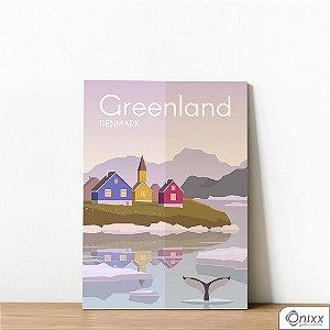 Placa Decorativa Série Poster Greenland