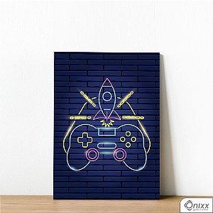 Placa Decorativa Série Neon Modern Joystick