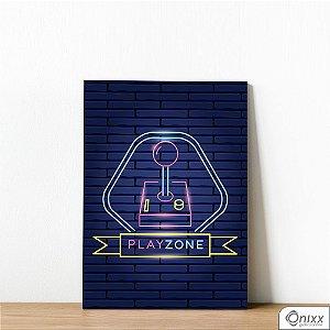 Placa Decorativa Série Neon Play Zone