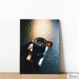 Placa Decorativa Máquina Fotográfica
