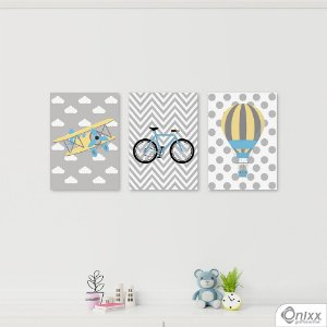 Kit de Placas Decorativas Gray Boy
