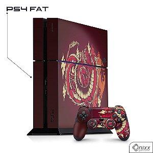 Skin Adesiva PS4 Dragão Vermelho