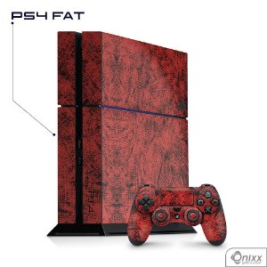 Skin Adesiva PS4 Canvas Red