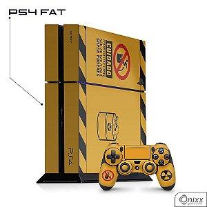 Skin Adesiva PS4 Não Pule No Lixo Radioativo