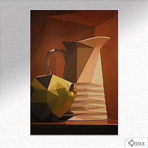 Placa Decorativa Jarra Cubismo Morto A4