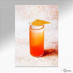 Placa Decorativa Yelow Drink A4