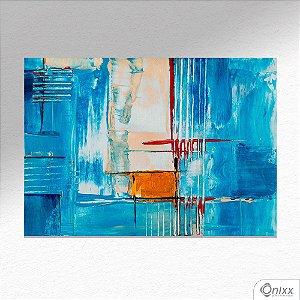 Placa Decorativa Série Blue Expressive A4