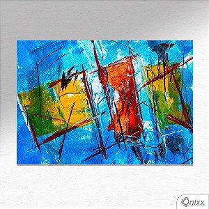 Placa Decorativa Série Blue Expressive Artist A4