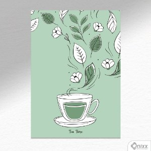 Placa Decorativa Tea Time A4