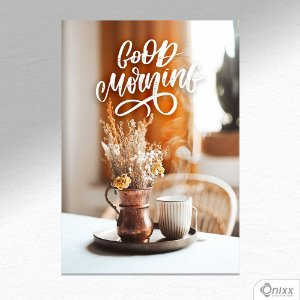 Placa Decorativa Morning Coffee A4