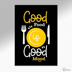Placa Decorativa Good Food A4