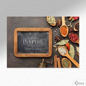 Placa Decorativa Inspire Spices A4