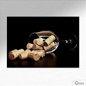 Placa Decorativa Reminders Of Good Wine A4